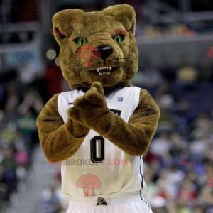 Brown bear mascot fierce air - Redbrokoly.com