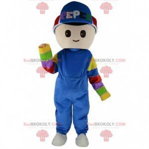 Jungenmaskottchen, Kostüm des jungen Mannes, Kinderkostüm -