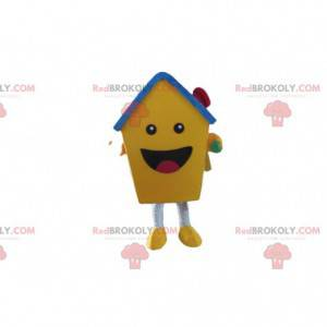 Yellow house mascot, residential costume, giant house -