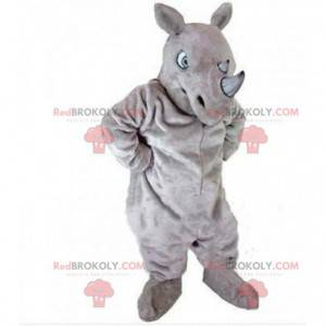 Mascote de rinoceronte cinza, fantasia de rinoceronte, savana -