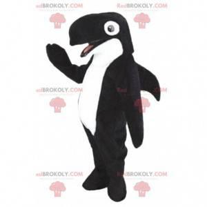 Maskot Orca, černá a bílá velryba, mořský kostým -