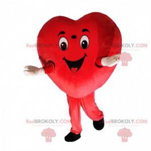 Giant heart mascot, love costume, romantic disguise -