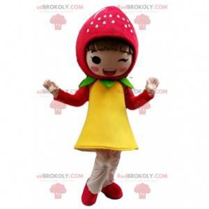 Strawberry mascot, girl costume, Strawberry Charlotte -