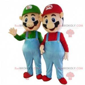Mascotes Mario e Luigi, 2 mascotes Nintendo - Redbrokoly.com