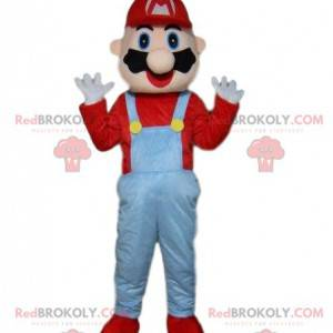 Mascot Mario, famous video game plumber, Mario costume -