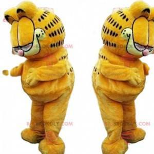 Mascote Garfield, famoso desenho animado do gato laranja -