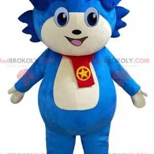 Blaues Charakter-Maskottchen, blaues Kreaturenkostüm -