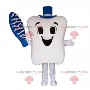 Giant tooth maskot, tannbørste, tannlege maskot - Redbrokoly.com