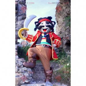 Buntes Piratenmaskottchen in traditioneller Kleidung -