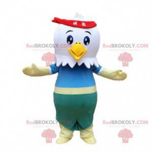 White eagle mascot, bird costume, rooster costume -