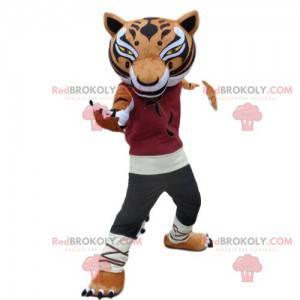 Maskot mistra tygřice z animovaného filmu Kung Fu panda -