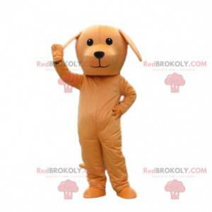 Oranžový pes maskot, oranžový kostým, psí kostým -