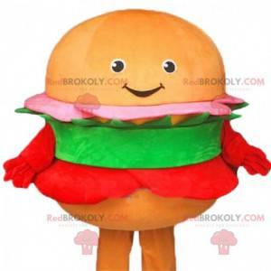 Hamburger maskot, hurtigmatdrakt, gigantisk hamburger -