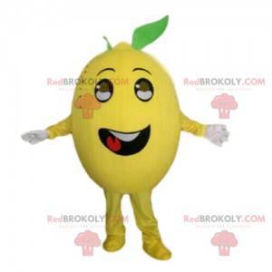Maskot žlutý citron, kostým citrusů, převlek ovoce -