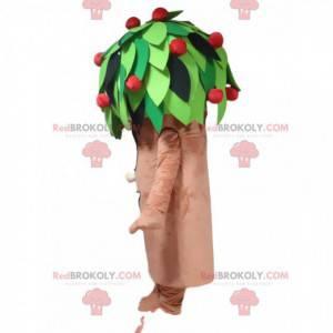 Fruit tree mascot, apple tree costume, giant tree -