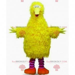 Yellow bird mascot, all hairy, giant bird costume -