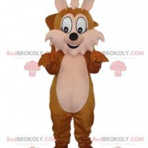 Brown fox mascot, squirrel costume, woodland mascot -