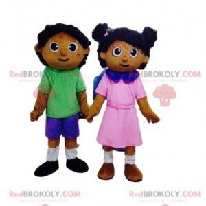 2 maskoti dětí, panenek, chlapce a dívky - Redbrokoly.com
