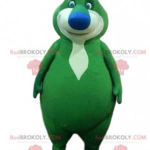 Zielony miś maskotka, zielony kostium misia, zielony potwór -