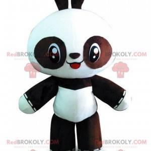 Schwarz-Weiß-Panda-Maskottchen, riesiger zweifarbiger Bär -
