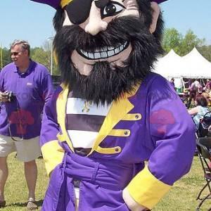 Pirát maskot v modré a žluté oblečení - Redbrokoly.com