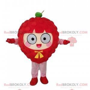 Gigantisk bringebærmaskot, rød fruktdrakt - Redbrokoly.com