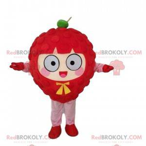 Maskotka olbrzymia malina, kostium czerwonego owocu -