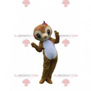 Mascote da preguiça, fantasia de macaco, sagui marrom -