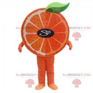 Oranžový maskot, ovocný kostým, klementínský kostým -