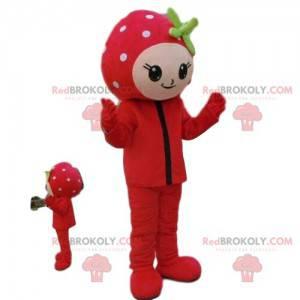 Mascot girl, strawberry costume, fruit costume - Redbrokoly.com