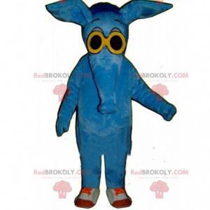 Ameisenbär Maskottchen, Elefanten Kostüm, blaues Tier -
