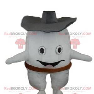 Maskot bílý zub, obří zub kostým - Redbrokoly.com