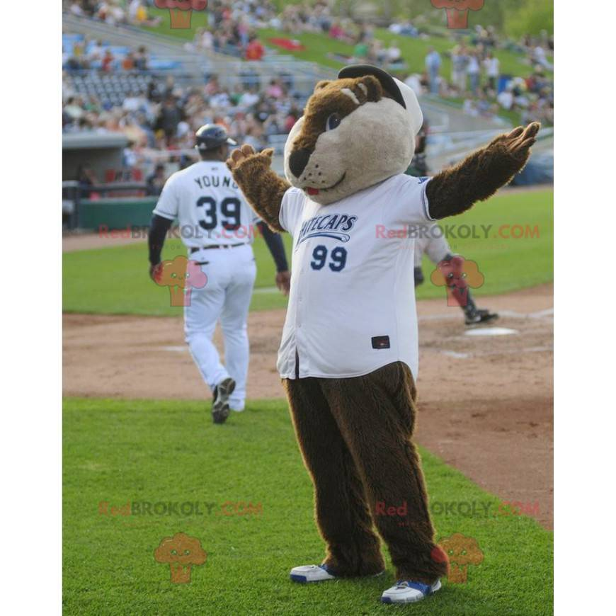 Brown and beige marmot mascot - Redbrokoly.com