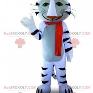 Maskottchen des weißen und schwarzen Tigers, Katzenkostüm