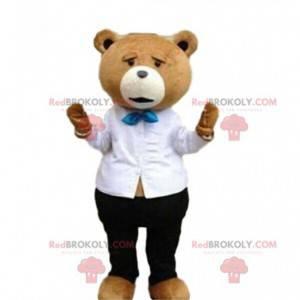 Stylový maskot medvídka, elegantní kostým medvídka -