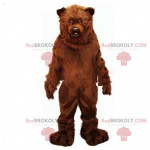 Maskotka niedźwiedź brunatny, realistyczny kostium