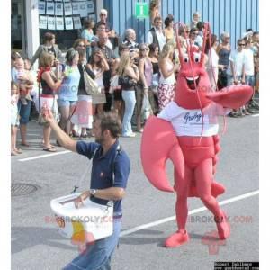 Riesenmaskottchen mit rotem Hummer - Redbrokoly.com