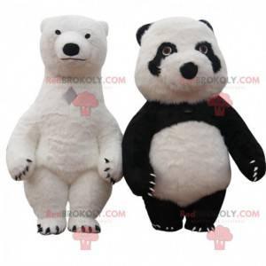 Aufblasbare Bärenmaskottchen, gigantische Teddybärkostüme -