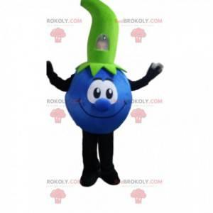 Blåbærmaskot, blå fruktdrakt, rød frukt - Redbrokoly.com