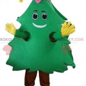 Maskot zelená jedle, kostým strom, vánoční stromeček -