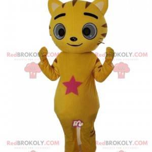 Gelbes Katzenmaskottchen, Katzenkostüm, Katzenverkleidung -