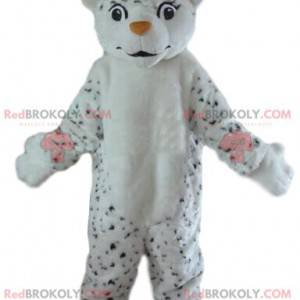White and black tiger mascot, leopard costume, giant tiger -