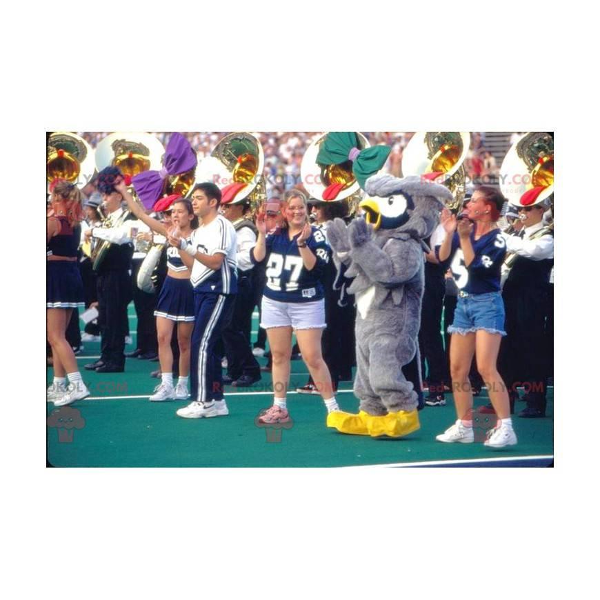 Mascot gray white and yellow owls - Redbrokoly.com