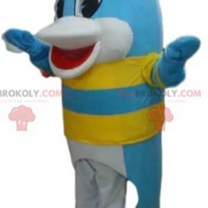 Blå delfin maskot, fisk kostyme, sjø maskot - Redbrokoly.com