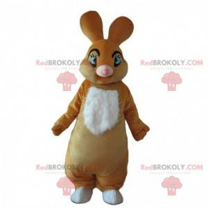 Plump rabbit mascot, brown rabbit costume, brown rabbit -