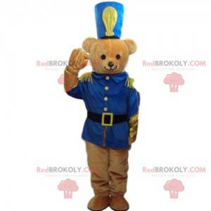 Maskot medvídek, vojenský kostým, vojenský medvěd -
