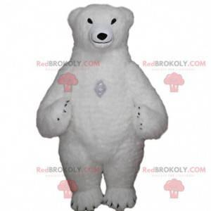 Aufblasbares Eisbärenmaskottchen, riesiges Eisbärenkostüm -