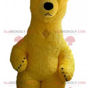 Inflatable yellow bear mascot, giant teddy bear costume -