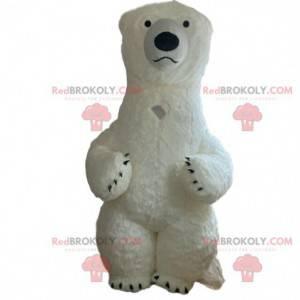 Oppblåsbar isbjørnemaske, gigantisk isbjørndrakt -