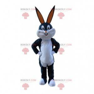Bugs Bunny maskot, grå og hvid kanin fra Looney Tunes -